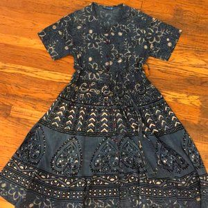 Vintage Boho Midi Dress